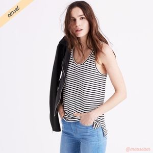 [Madewell] Wentworth Stripe Whisper Scoop Tank